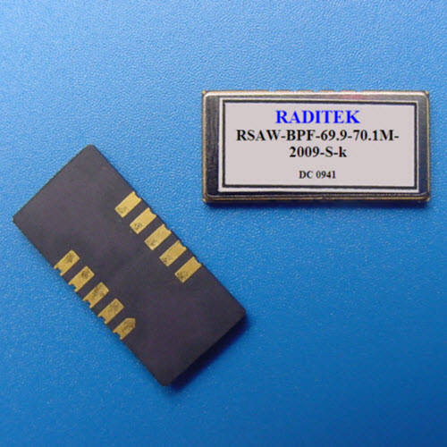Saw Filter, Surface mount, 69.9-70.1MHz