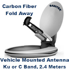 Vehicle Mounted Antenna, Ku or C Band